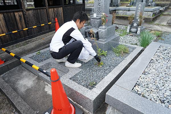 墓石洗浄1