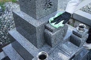 墓石洗浄7